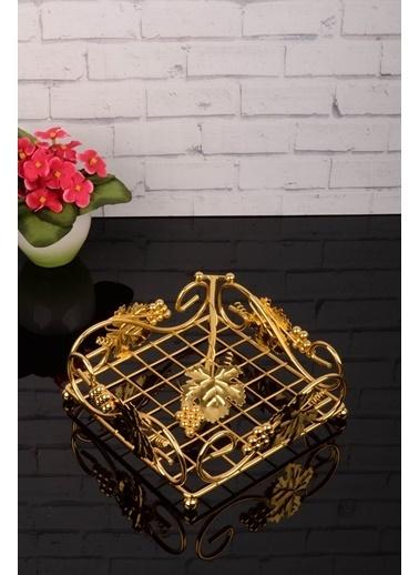 Kitchen World Set Üstü Peçetelik - Altın Masa Üstü Peçetelik Altın